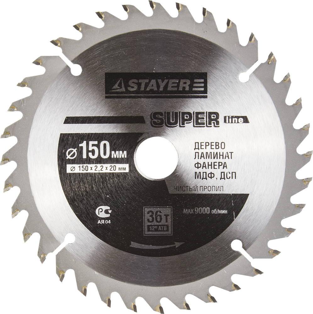 Диск пильный твердосплавный Stayer Master 3682-150-20-36 диск алмазный diam 150х22 2мм master турбо 000160