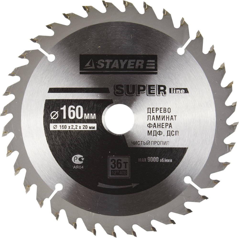 Диск пильный твердосплавный Stayer Master 3682-160-20-36 диск алмазный diam 150х22 2мм master турбо 000160