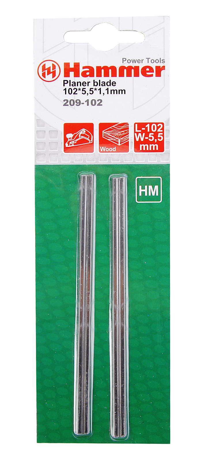 Ножи для рубанка Hammer 102мм (flex 209-102)