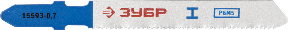 Пилки для лобзика ЗУБР 15593-0.7_z01 пилки для лобзика по металлу для прямых пропилов bosch t118a 1 3 мм 5 шт