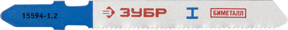 Пилки для лобзика ЗУБР 15594-1.2_z01 пилки для лобзика по металлу для прямых пропилов bosch t118a 1 3 мм 5 шт