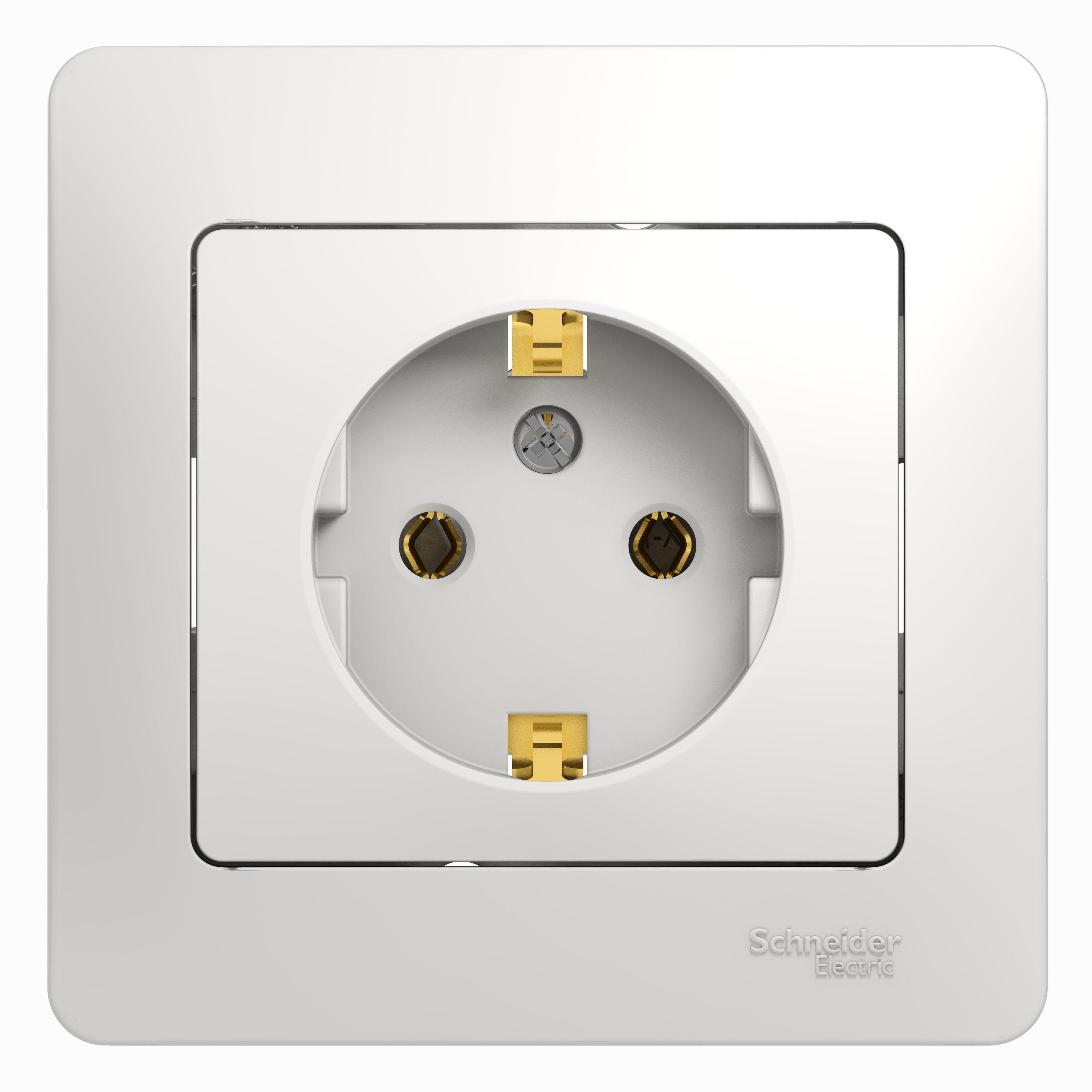 Розетка Schneider electric Gsl000142 glossa панель лицевая schneider electric actassi 1 модуль белый 24 шт vdi88240