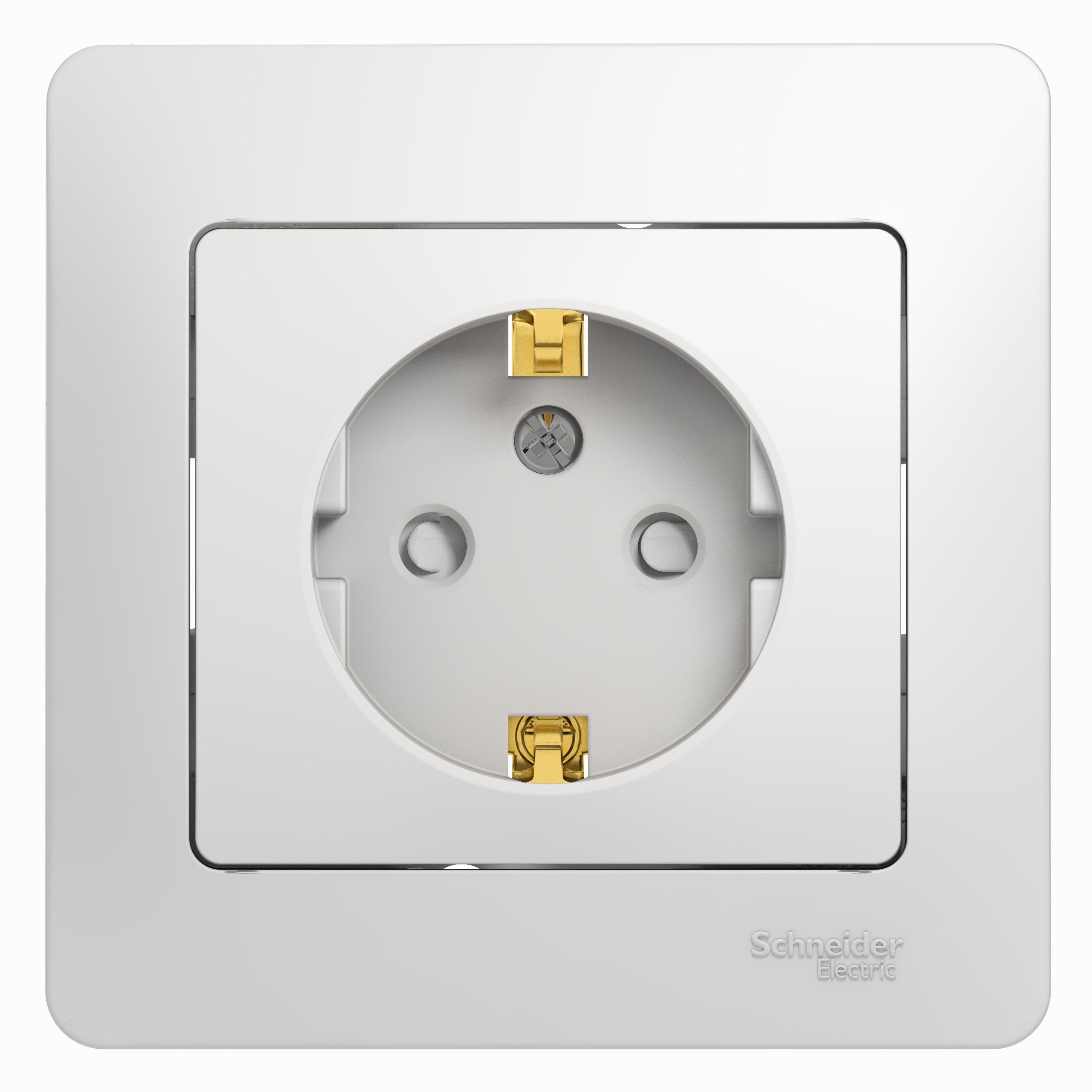 Розетка Schneider electric Gsl000144 glossa панель лицевая schneider electric actassi 1 модуль белый 24 шт vdi88240