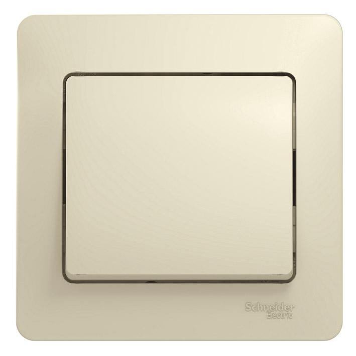 Выключатель Schneider electric Gsl000212 glossa выключатель двухклавишный наружный бежевый 10а quteo