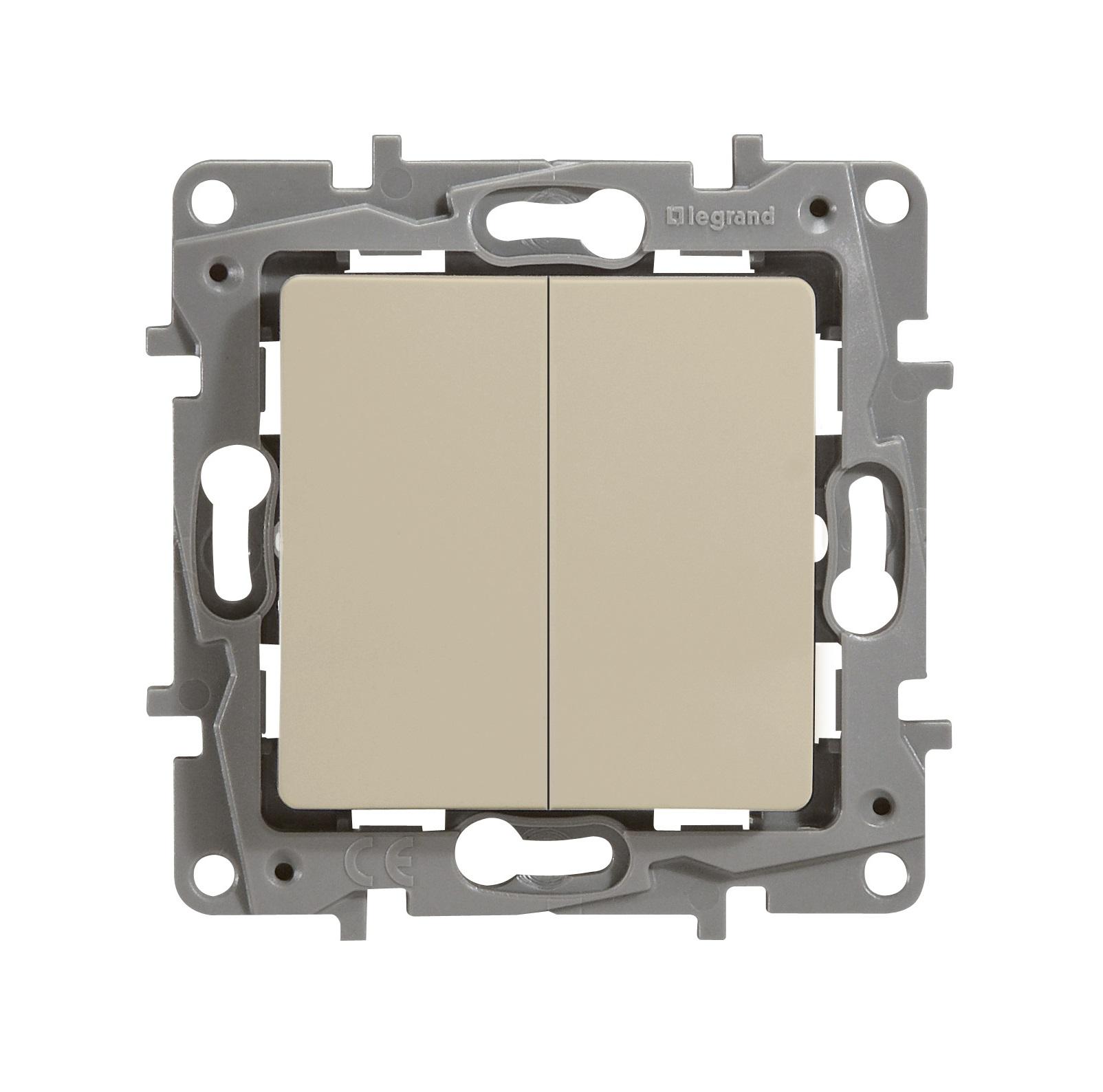 Механизм выключателя Legrand 1066874 выключатель legrand quteo 2 клавишный серый 782332