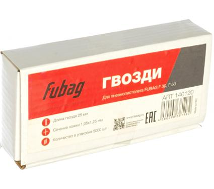 Гвозди для степлера FUBAG 140120 1 х 1.25 х 25 мм 5000 шт.