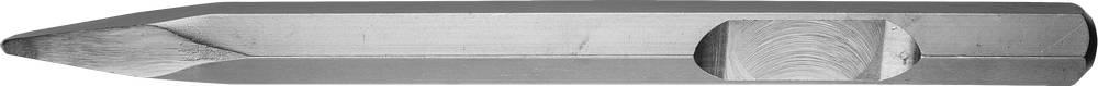 Зубило ЗУБР 29376-00-400 зубило зубр 29376 00 400 профессионал пикообразное для молотков hex 28мм 400мм