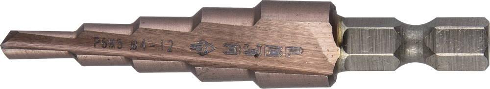 Сверло по металлу ЗУБР 29672-4-12-5 набор метчиков зубр 4 28007 16 1 5 h2