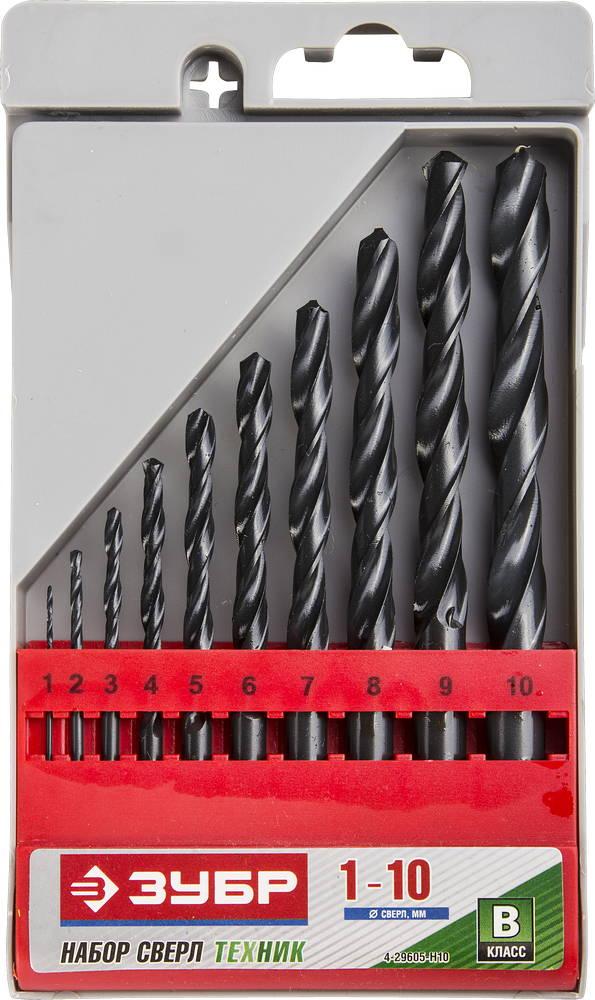 Набор сверл ЗУБР 4-29605-h10 набор метчиков зубр 4 28007 10 1 0 h2