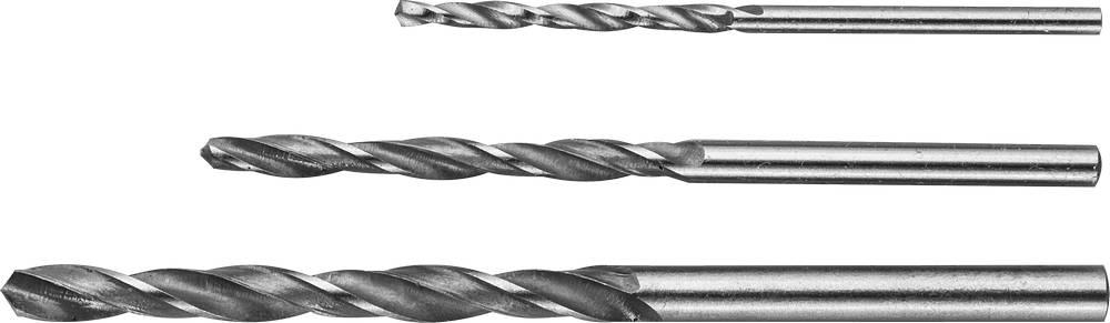 Набор сверл ЗУБР 4-29621-h3 инструмент токарные резцы зубр 18371 h3