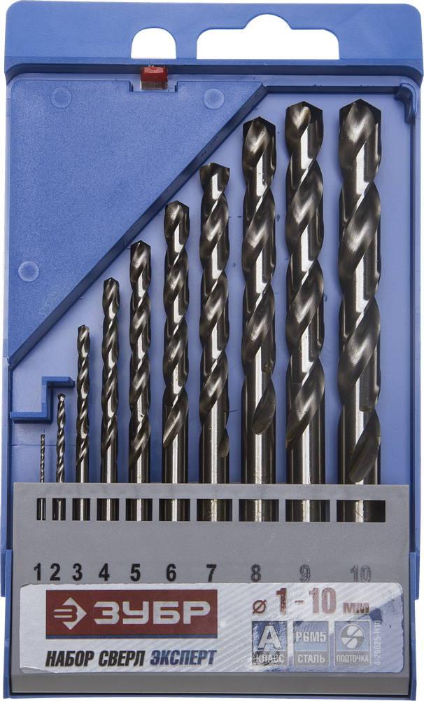 Набор сверл ЗУБР 4-29625-h10 набор метчиков зубр 4 28007 10 1 0 h2