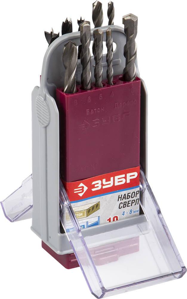Набор сверл ЗУБР 4-29704-h10-sb набор сверл по металлу зубр эксперт 4 29625 h10 p