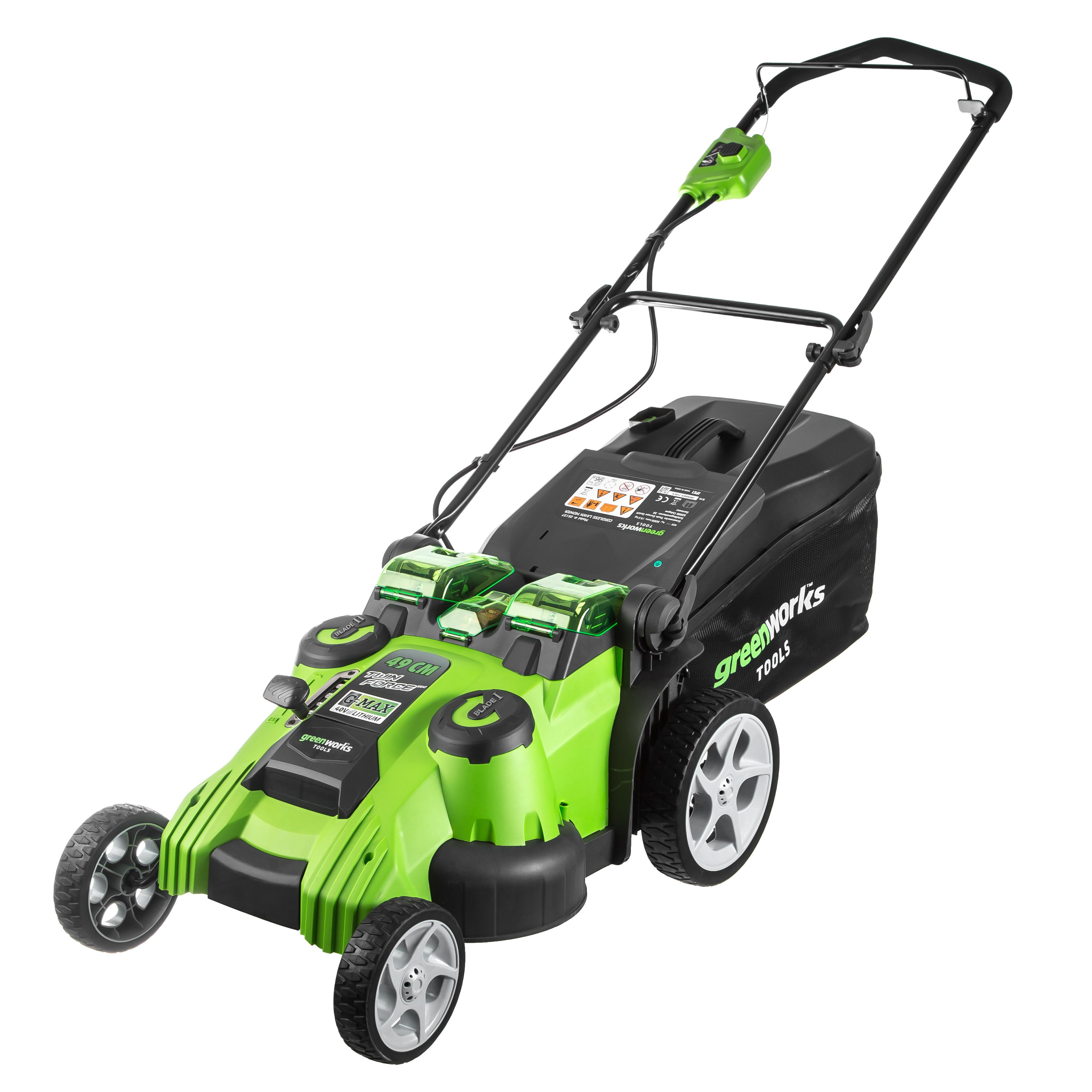 Аккумуляторная газонокосилка Greenworks G40lm49db (2500207) БЕЗ АКК. и ЗУ