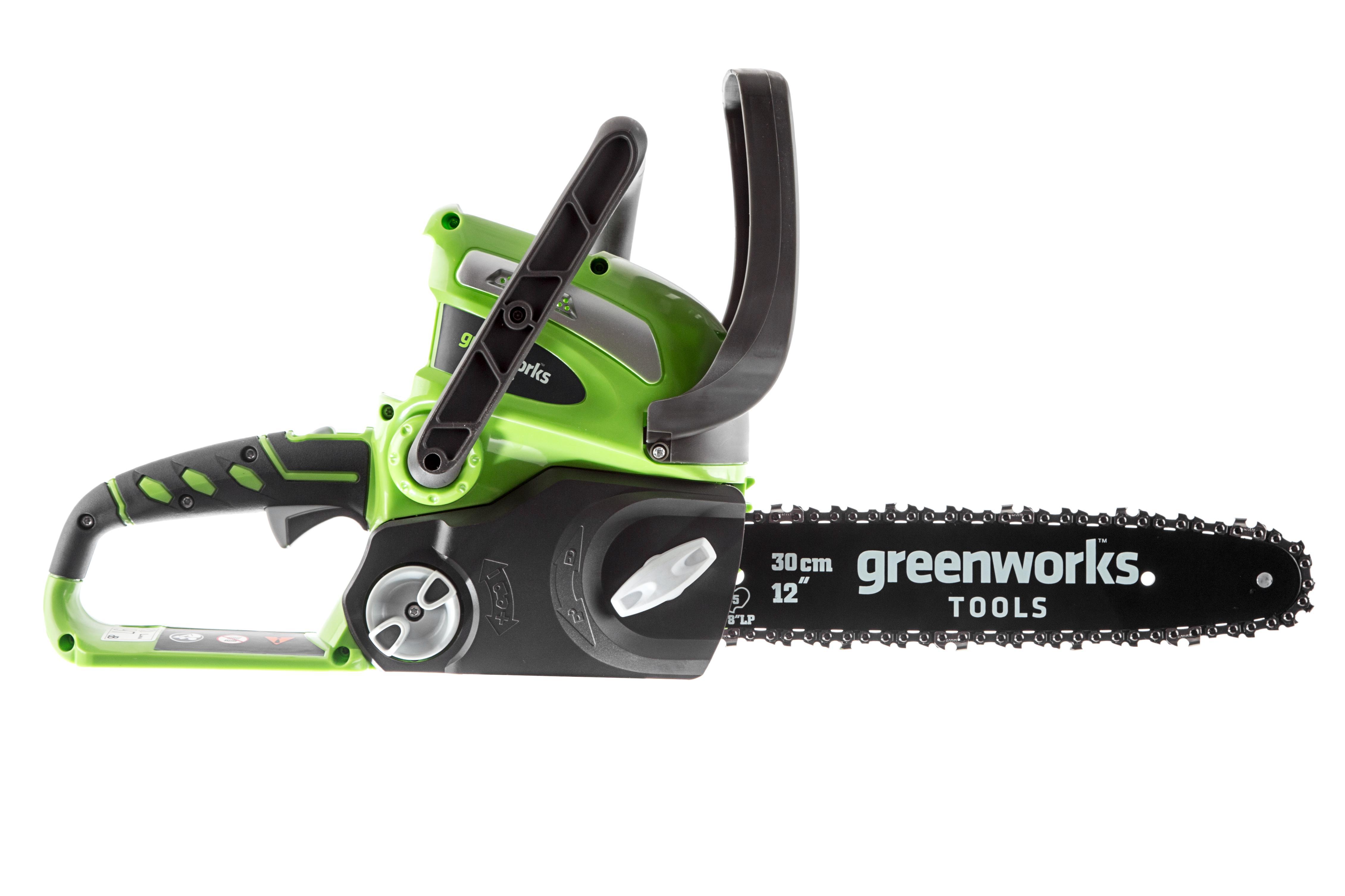 Пила цепная аккумуляторная Greenworks G40cs30 (20117) БЕЗ АККУМ и ЗУ дрель шуруповерт greenworks gd24bd 3701607 без аккум и зу