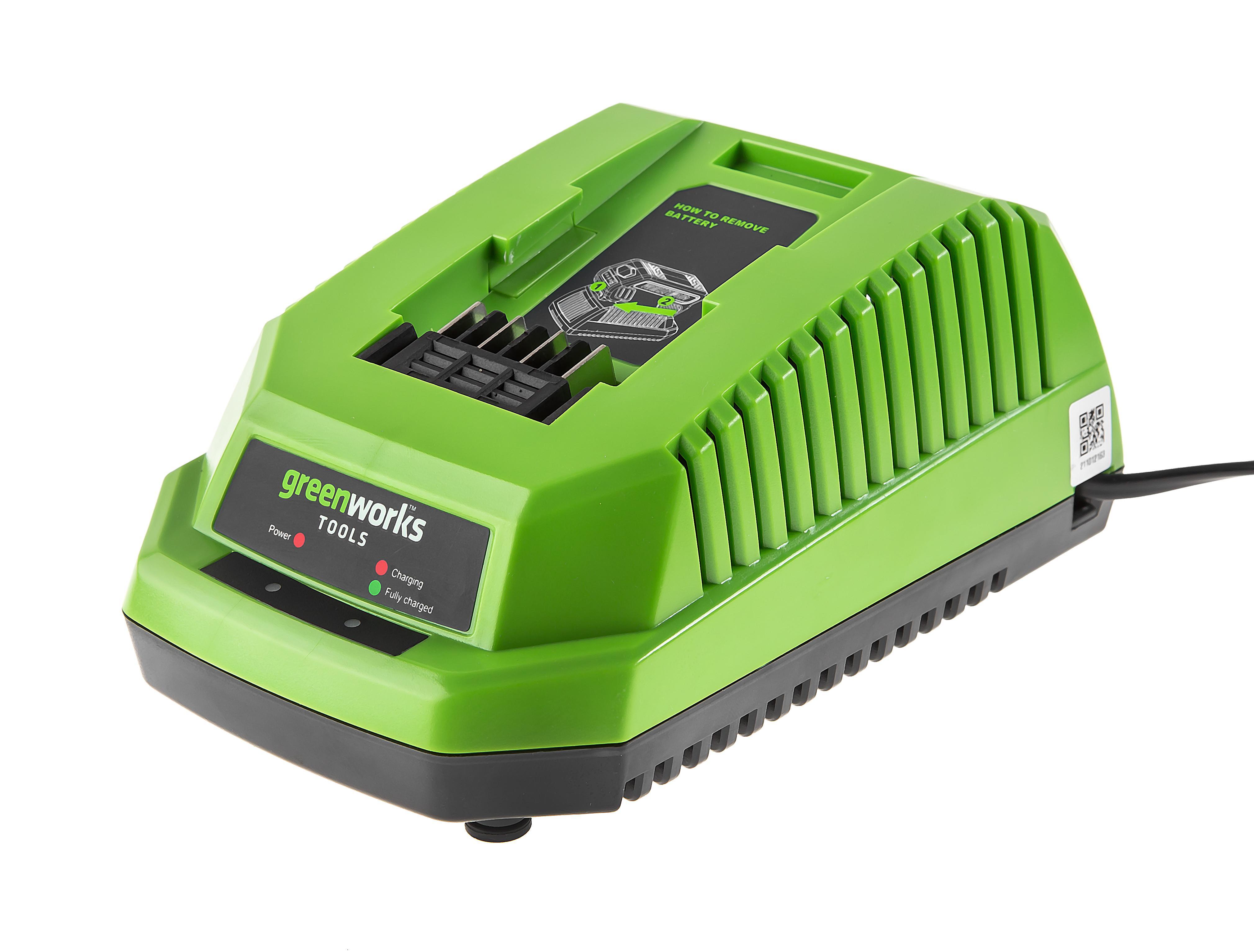 Фото - Зарядное устройство Greenworks G40c (2904607) БЕЗ АККУМ зарядное