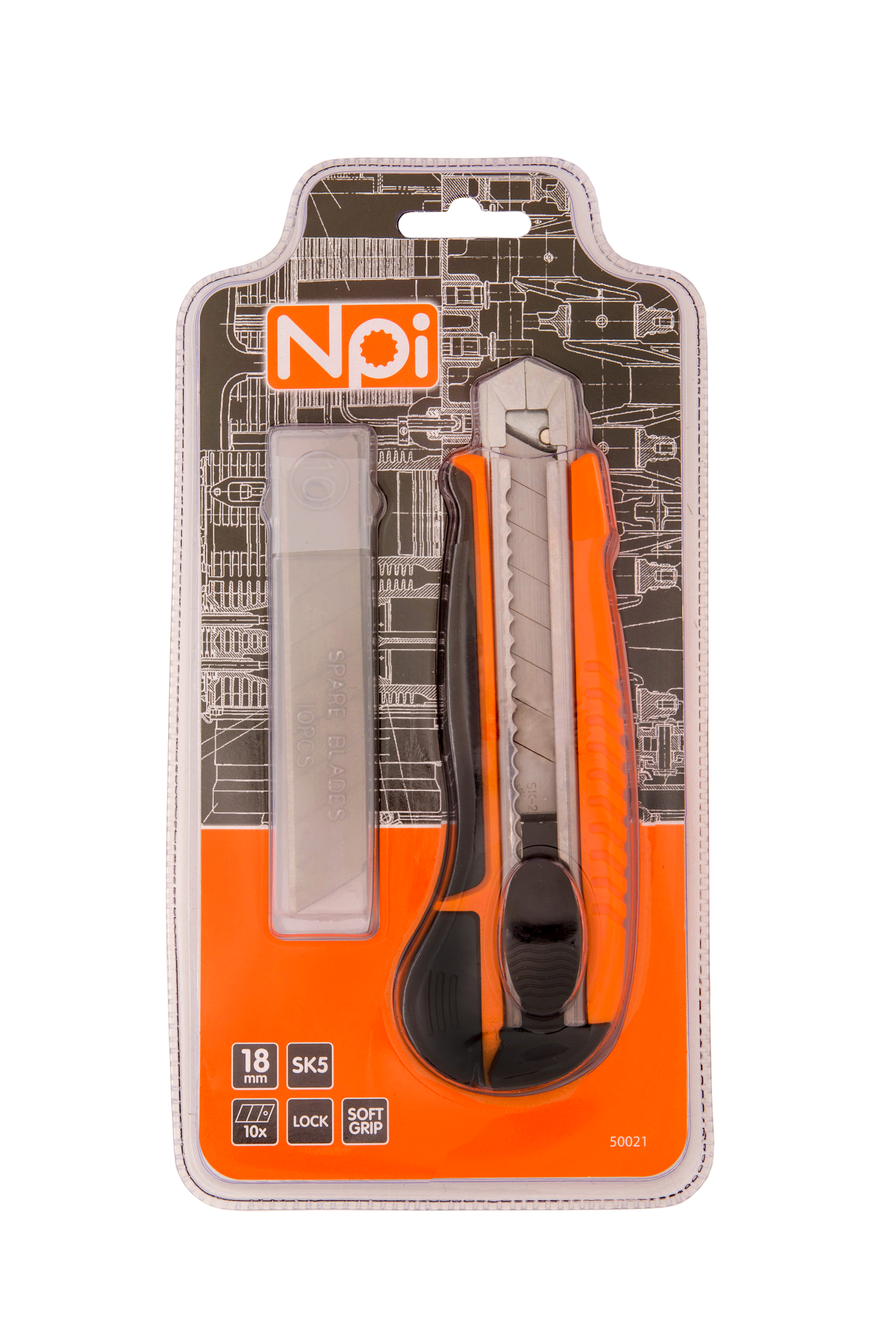 Нож Npi 50021 строительный нож npi 10552