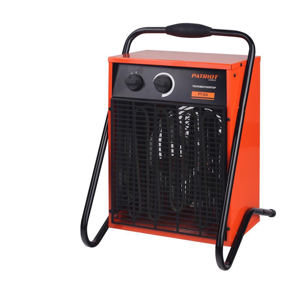 Калорифер PatriotТепловые пушки и нагреватели (промышленные)<br>Тип тепловой пушки: электрические,<br>Мощность: 6000,<br>Способ нагрева: прямой,<br>Мобильность: переносной,<br>Производительность (м3/ч): 720<br>