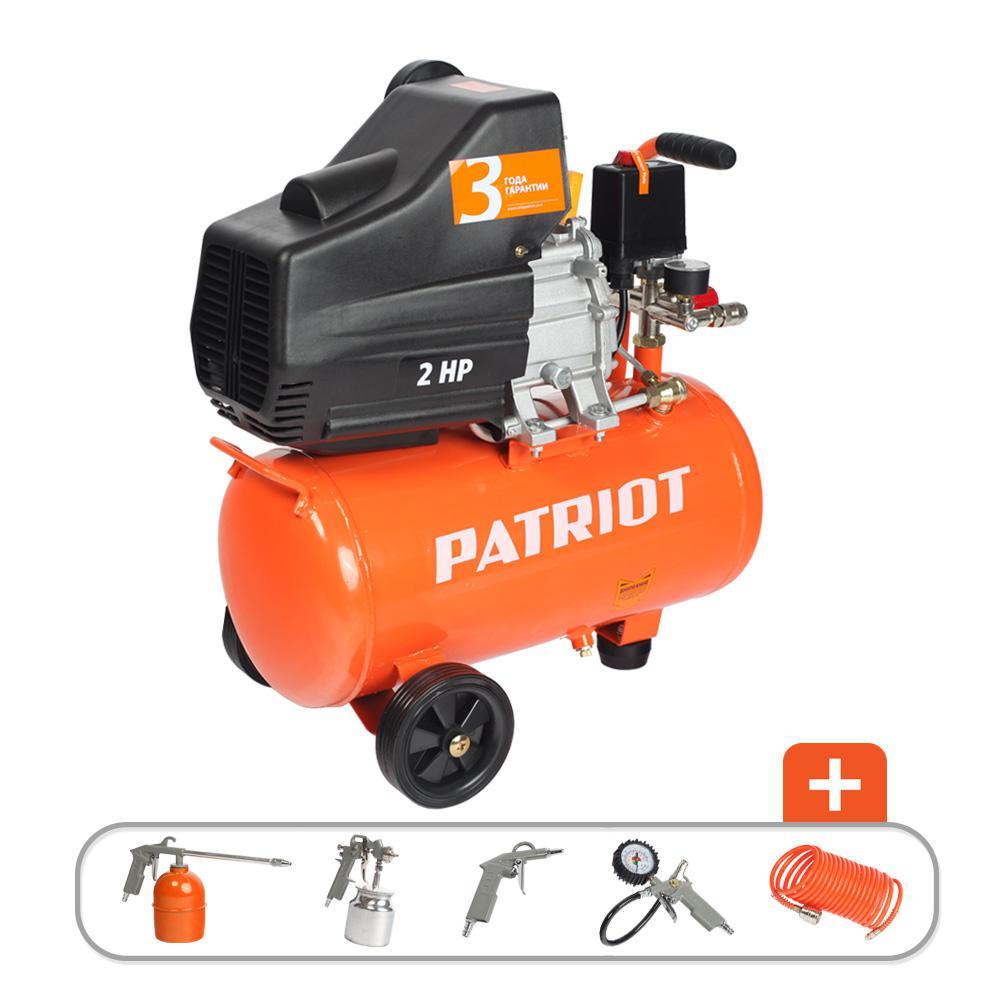 Компрессор Patriot Euro 24-240k + набор пневиоинструмента kit 5В