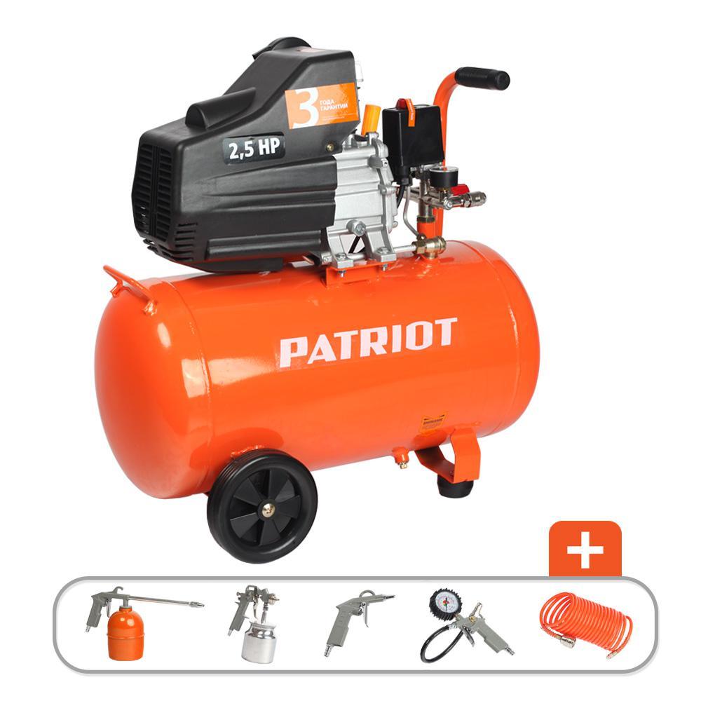 Компрессор Patriot Euro 50-260k + набор пневмоинструмента kit 5В компрессор patriot euro 50 260к 525306316