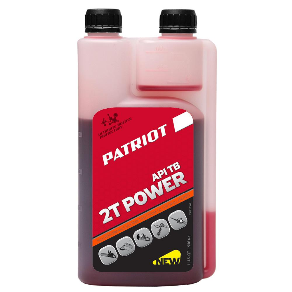 Фото - Масло моторное Patriot Power active 2t 0,946л масло для садовой техники patriot power active 2t дозаторное 0 946 л
