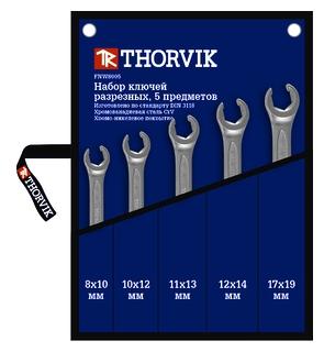 Ключ гаечный Thorvik Fnws005 (8 - 19 мм) ключ гаечный разрезной thorvik arc w40608 6 х 8 мм