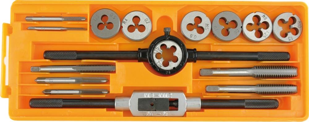 Набор метчиков и плашек Vorel 24295 набор плашек и метчиков зубр эксперт 35 шт