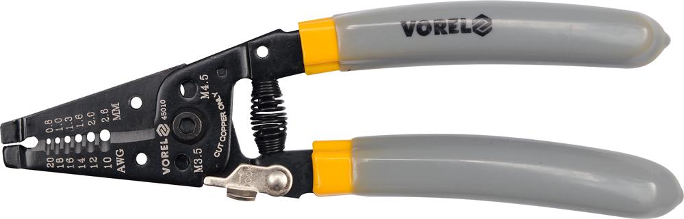 Клещи Vorel 45010 ключ торцевой vorel l типа 17мм