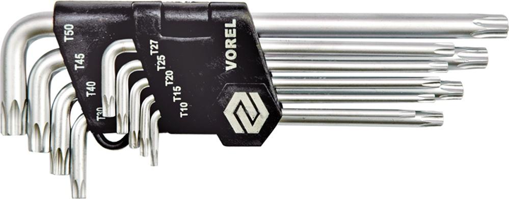 Набор ключей Vorel 56478 набор г образных ключей торкс t10 t50 9шт jtc 5354