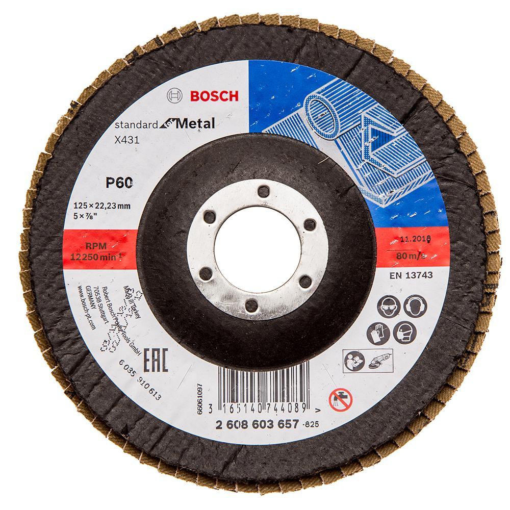 Круг Лепестковый Торцевой (КЛТ) Bosch 2608603657 круг лепестковый торцевой клт энкор 20511