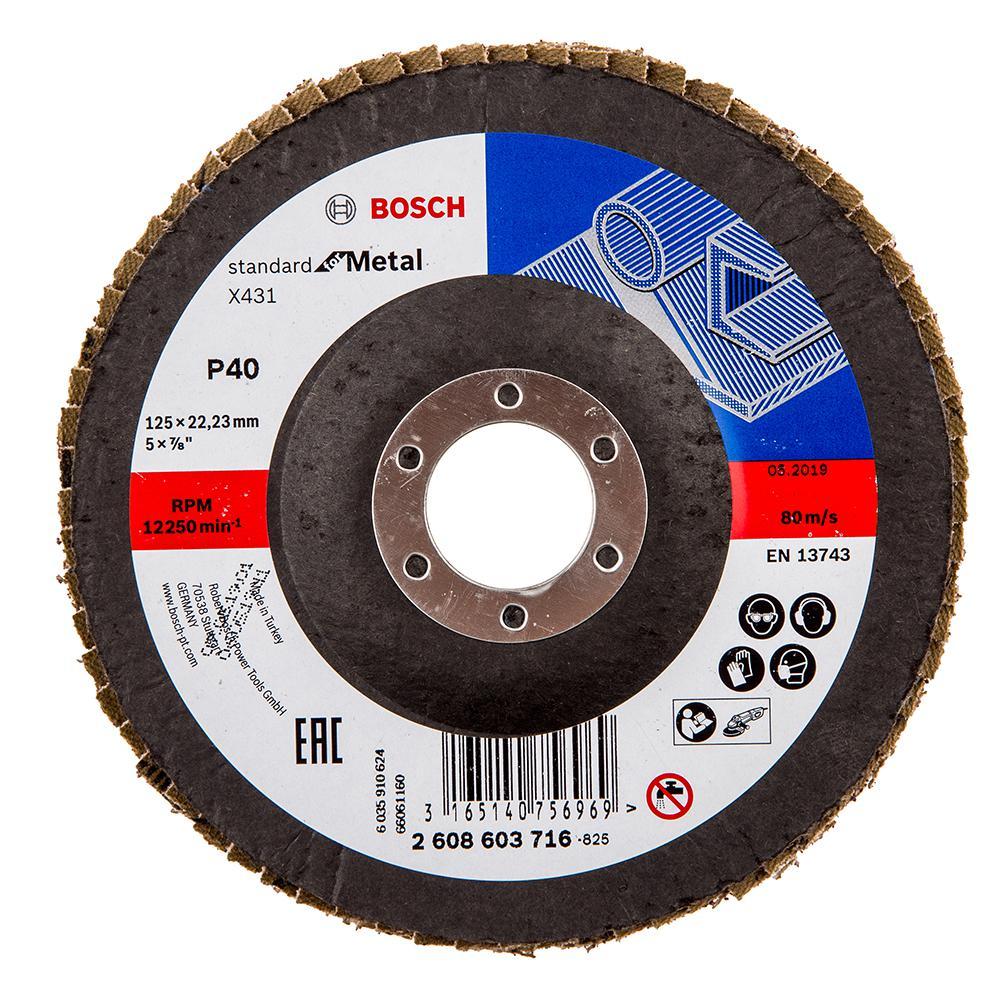 Круг Лепестковый Торцевой (КЛТ) Bosch 2608603716 датчики