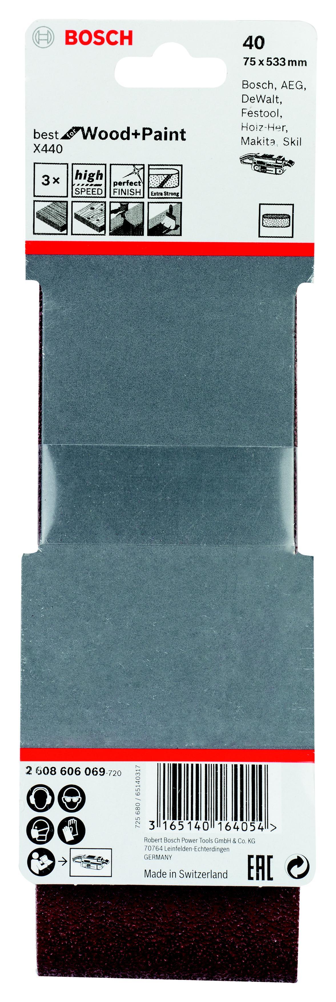 Лента шлифовальная бесконечная Bosch 2608606069 шлифовальная машина bosch gss 230 ave professional