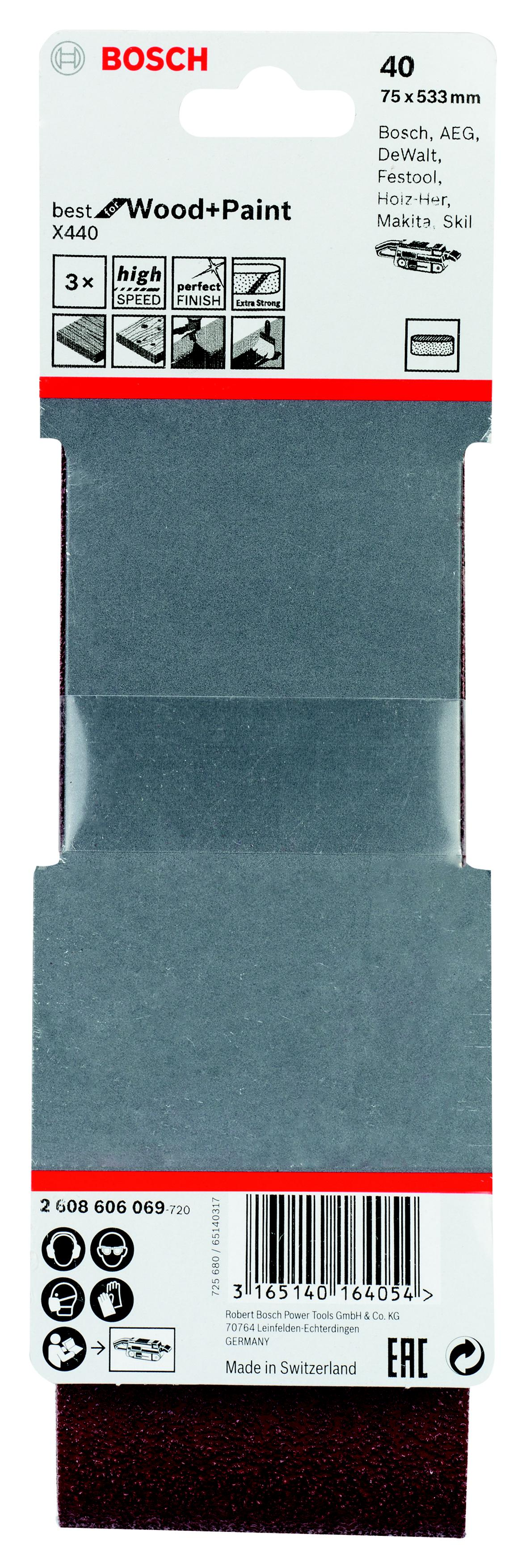 Лента шлиф. бесконечная Bosch 75х533мм p40 smc type mgpm40 75 40mm bore 75mm stroke pneumatic guided cylinder compact guide slide bearing mgpm 40 75 40 75 40x75