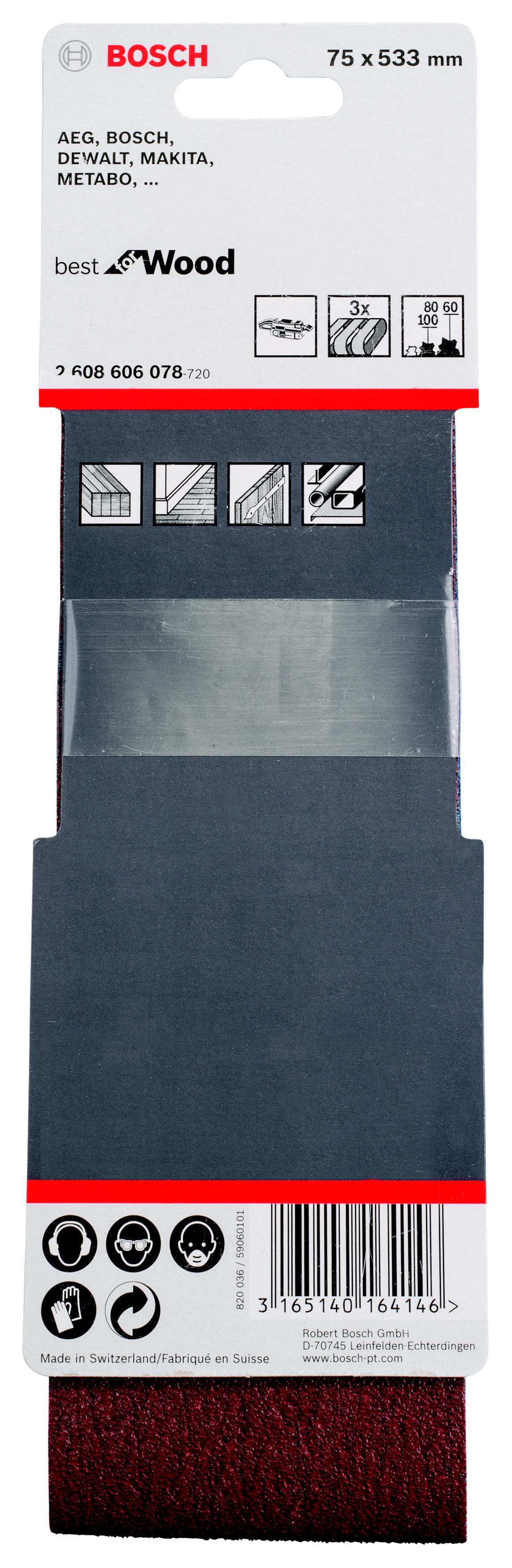 Лента шлифовальная бесконечная Bosch 2608606078 набор шлифлистов bosch 2608606078