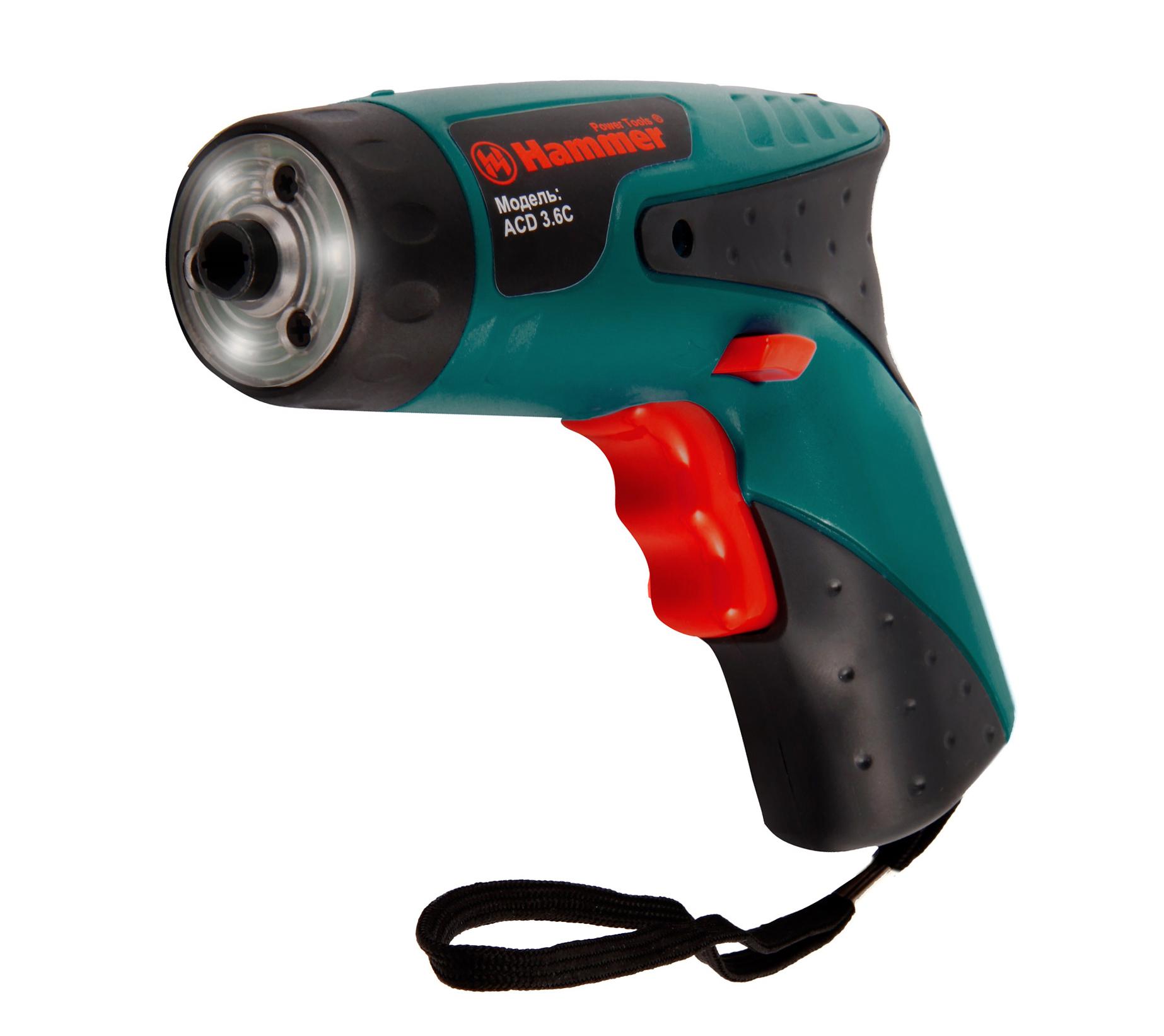 Отвертка аккумуляторная Hammer Acd 3.6c premium  hammer acd3 6c premium аккумуляторная отвертка