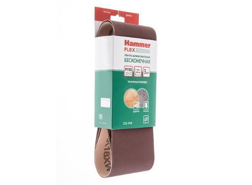 Лента шлиф. бесконечная HAMMER 100х610мм P150
