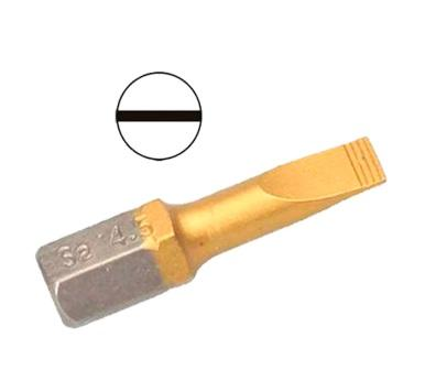 Бита Hammer Pb sl-0,6*4,5 25мм (1шт.) бита hammer pb pz 2 50мм 2шт
