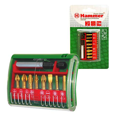 цена на Набор бит Hammer Pb набор no4 (9шт.) ph/pz/sl/hx
