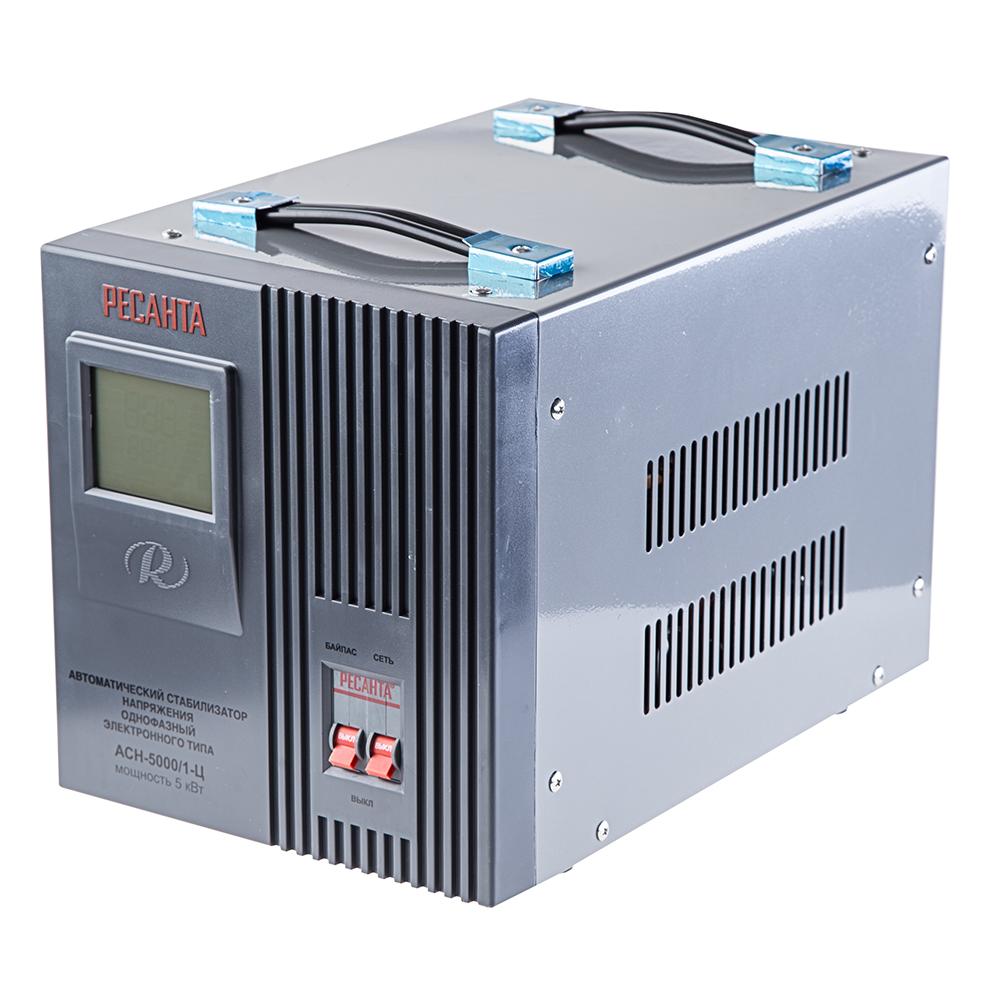 Стабилизатор напряжения РЕСАНТА АСН-5000/1-Ц ресанта асн 120001 ц релейный в москве
