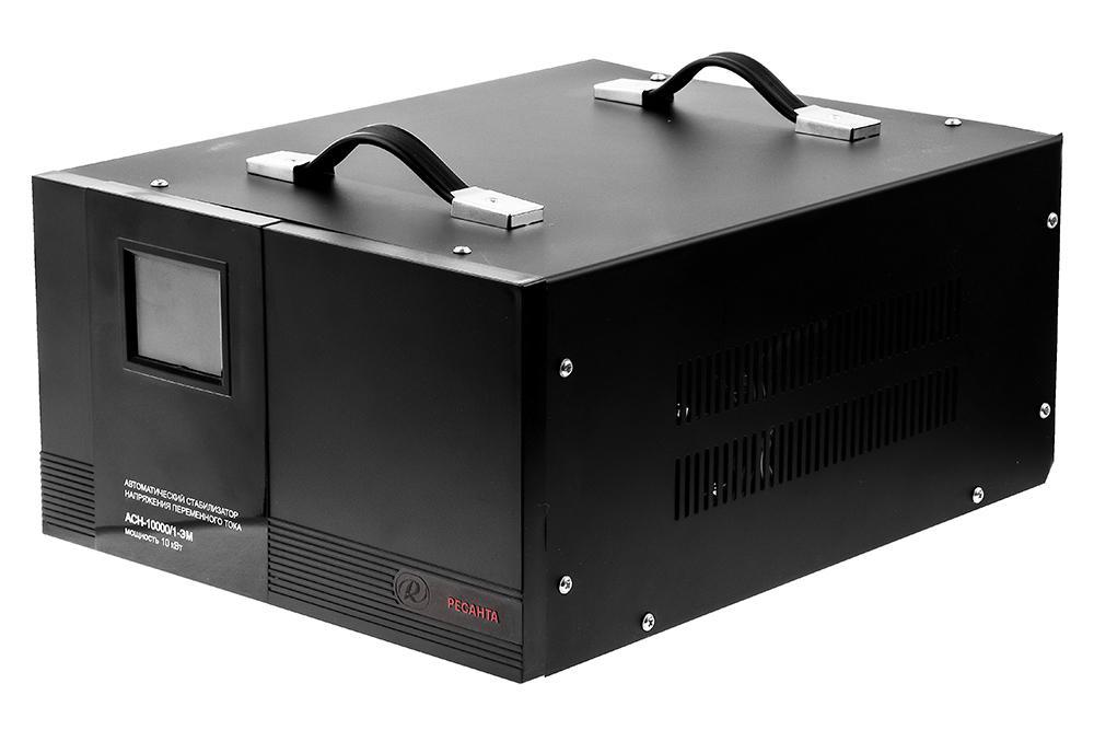 Стабилизатор напряжения РЕСАНТА АСН-10000/1-ЭМ стабилизатор ресанта асн 9000 3 эм