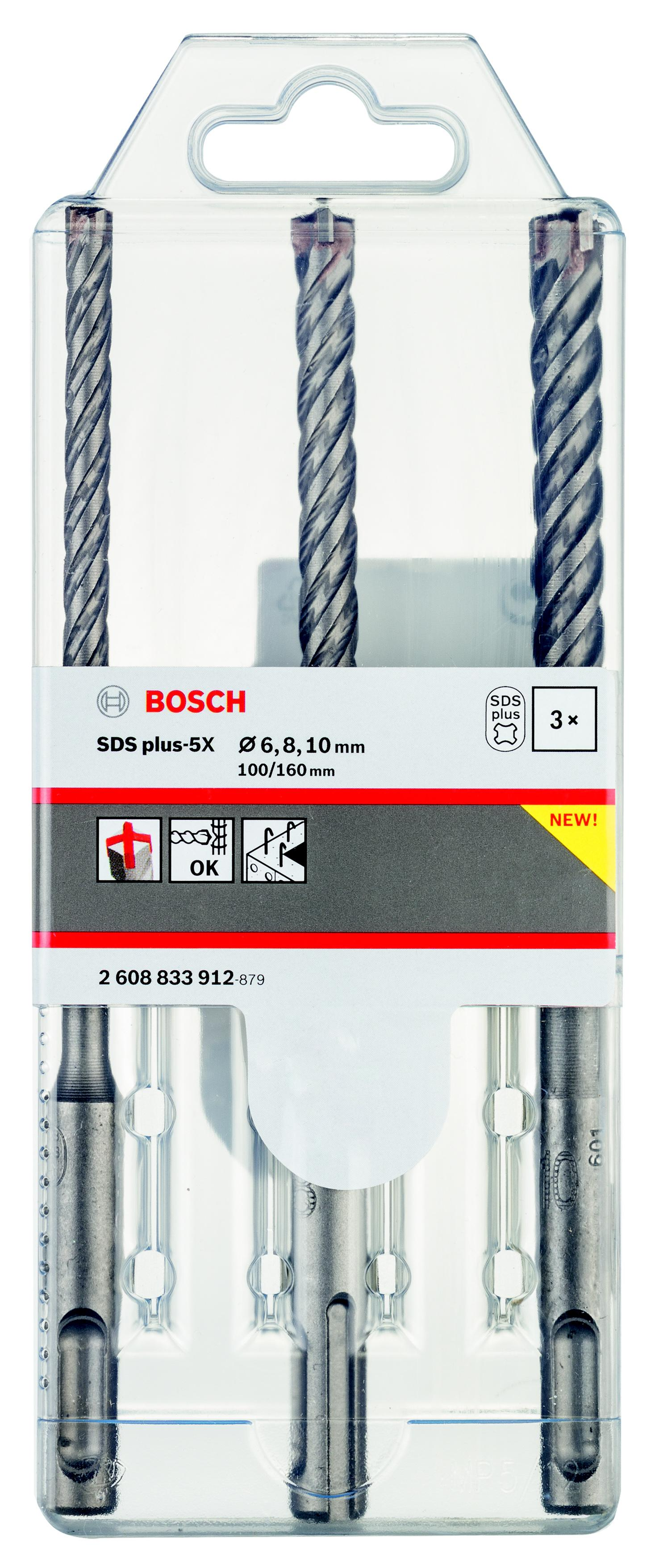Набор буров Bosch Sds+ (2608833912) набор буров для перфоратора bosch sds plus 7x 5 10 мм 5 шт 2608576199