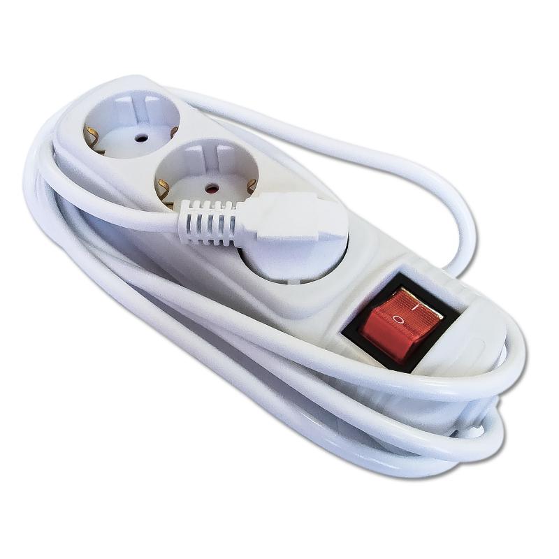 Удлинитель EurotexУдлинители и сетевые фильтры<br>Количество гнезд: 3,<br>Заземление: есть,<br>Тип удлинителя: удлинитель,<br>Число / сечение жил: 3x1.0,<br>Длина (м): 5,<br>Выключатель: есть,<br>Цвет: белый,<br>Сила тока: 10<br>