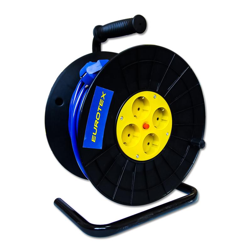 Удлинитель Eurotex 085501-025 силовой удлинитель на катушке к1 0 25 lux 4606400417552