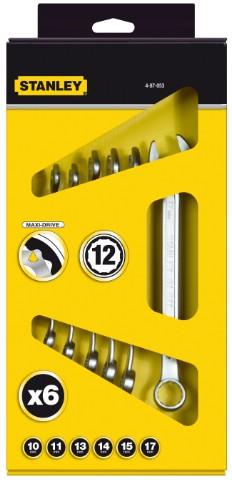 Набор ключей Stanley 4-87-054 (8 - 22 мм) угольник комбинированный stanley 0 46 151