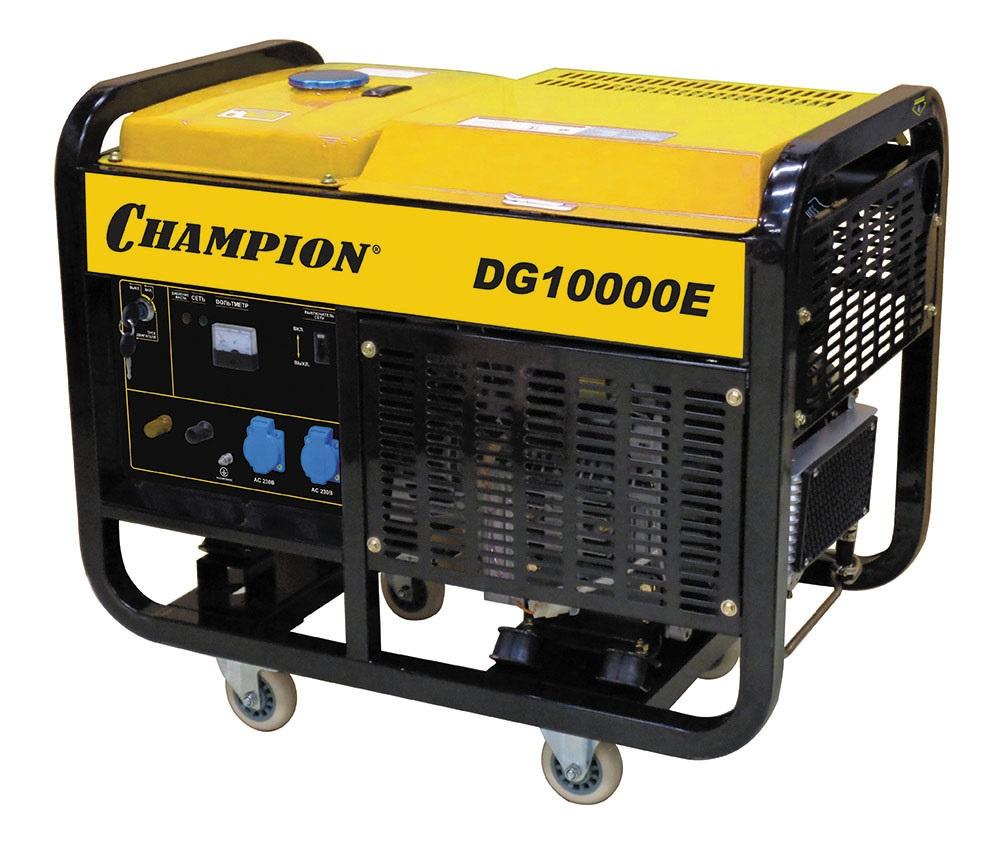 Дизельный генератор Champion Dg10000e