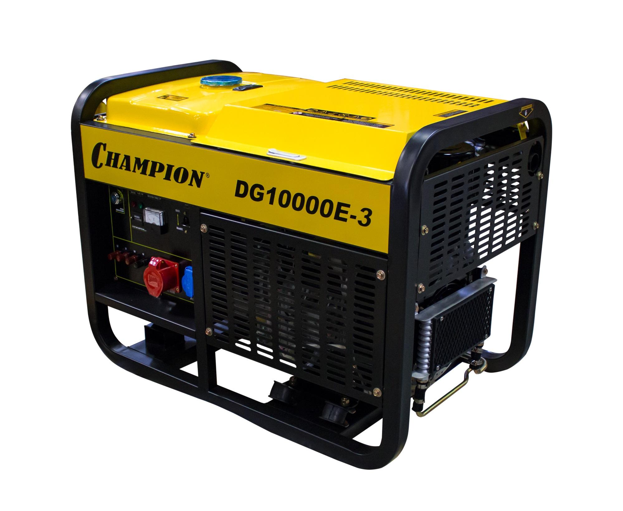 Дизельный генератор Champion Dg10000e-3 дизельный генератор champion dg10000e 3