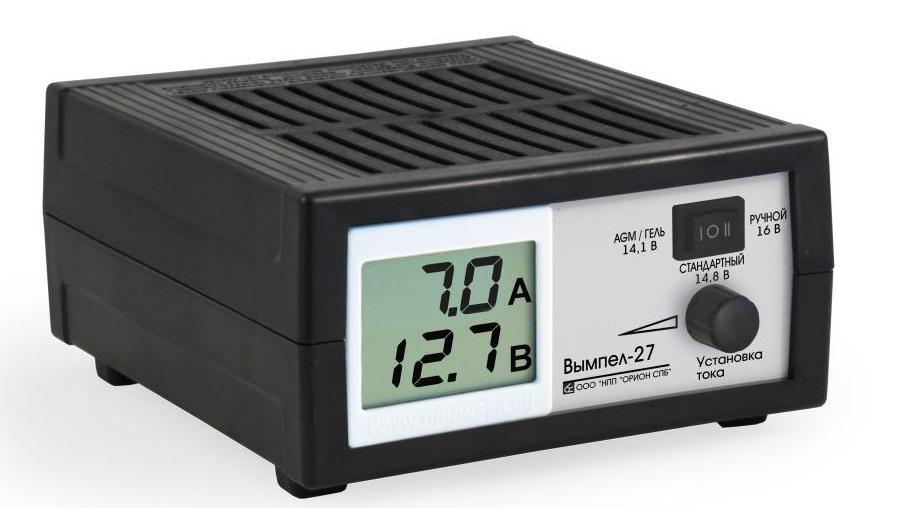 Зарядное устройство ВЫМПЕЛ 27 зарядное устройство вымпел 57 автомат сегментный жк индикатор 0 20а 7 4 18в