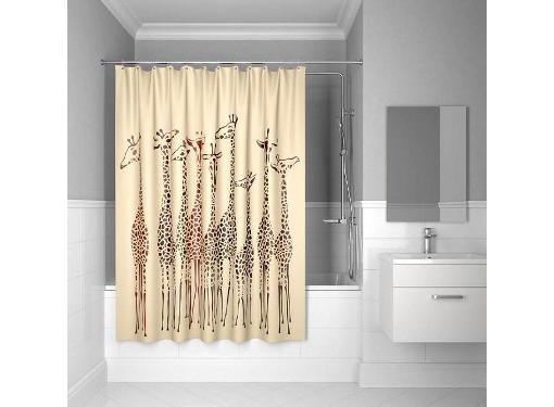 Штора для ванной комнаты IDDIS 570P18Ri11 Safari Friends 200х180 см
