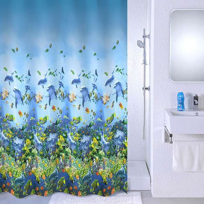 Штора для ванной комнаты Milardo 526v180m11 milardo amur amusb00m01