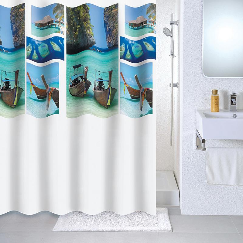 Штора для ванной комнаты Milardo 534v180m11 штора для ванной комнаты milardo 535v180m11