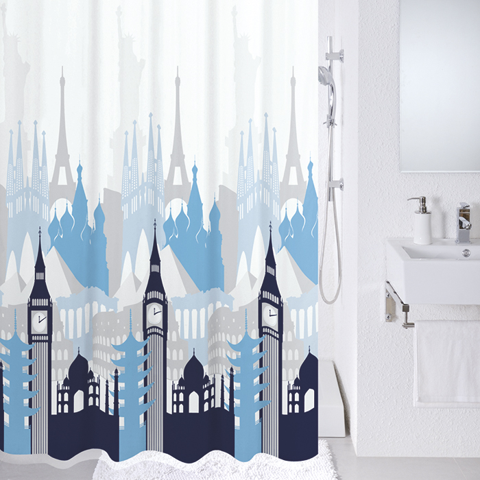 Штора для ванной комнаты Milardo 780p180m11 штора для ванной комнаты milardo lovely phantom 503v180m11